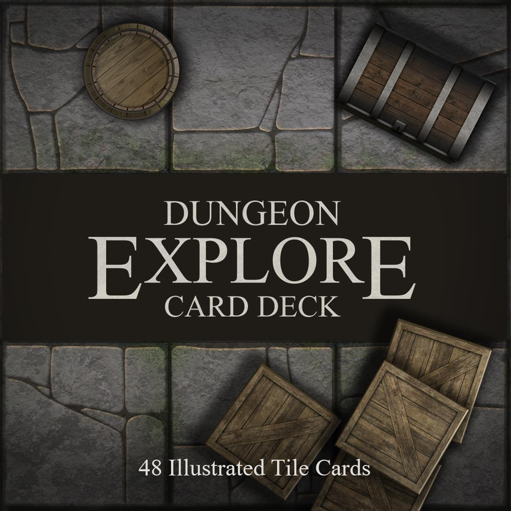 Dungeon Explore Card Deck Box Image